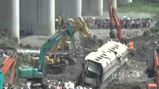 Wenzhou High Speed Train Crash Aftermath, More Bodies Discovered During Cleanup