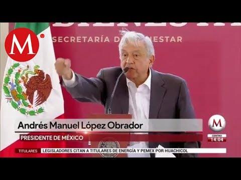 Ningún mexicano tendrá que dedicarse al huachicoleo, promete AMLO