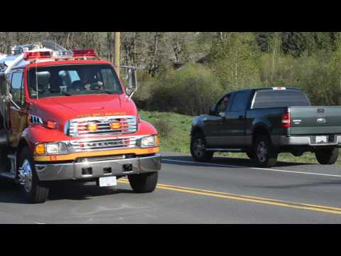 Duncan Volunteer Fire Department Tender 6 Responding
