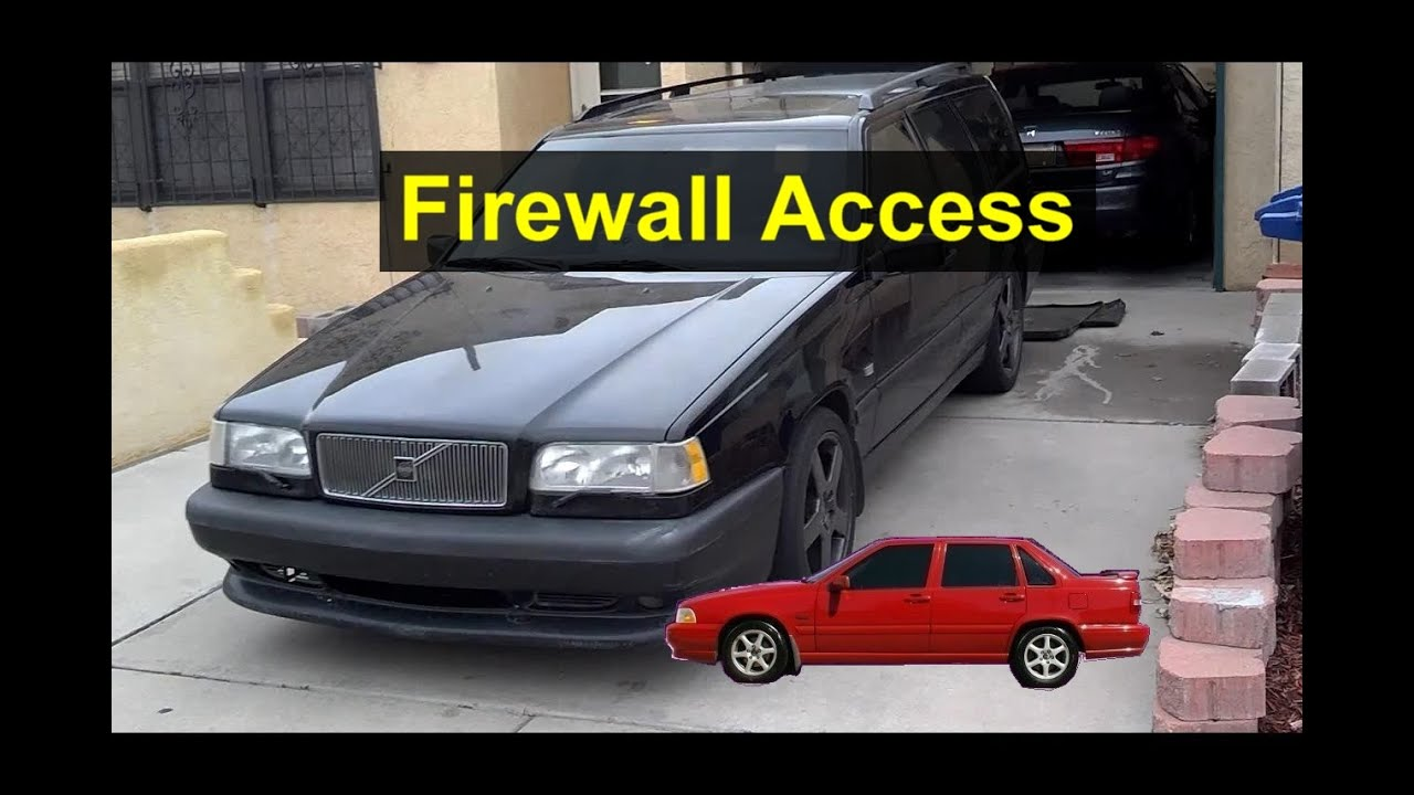Best place to push wire through firewall - Volvo Forums