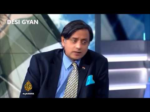 Dr. Shashi Tharoor's awesome reply to Pro-Arab journalist on Kashmir !
