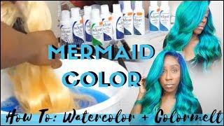 HOW TO   COLOR MELT MERMAID OMBRÉ  HAIR COLOR TUTORIAL + WATERCOLOR METHOD   FT ROSABEAUTY HAIR