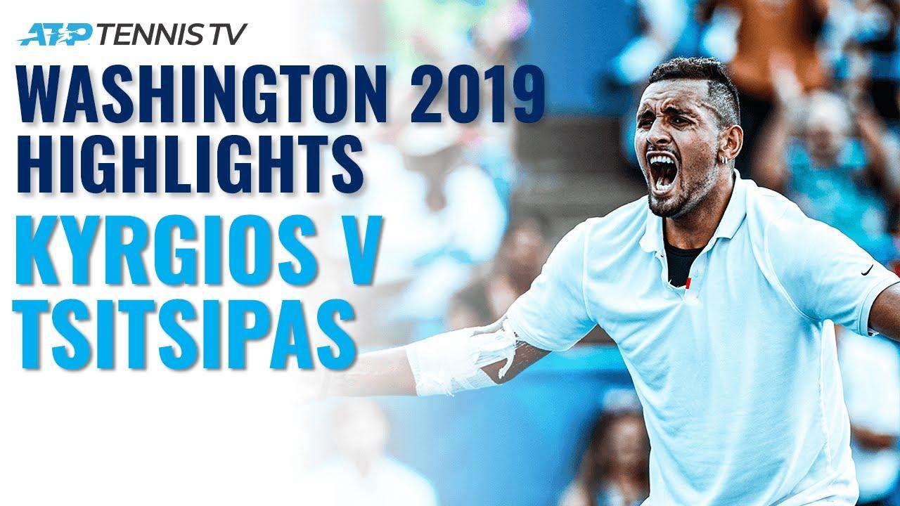 Nick Kyrgios vs Stefanos Tsitsipas: Washington 2019 Extended Tennis Highlights