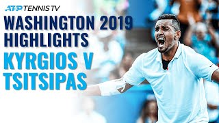 Nick Kyrgios vs Stefanos Tsitsipas: Washington 2019 Extended Tennis Highlights