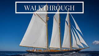 SHENANDOAH OF SARK | 54.4m/178'04 Townsend-Downey Classic Sailing-Yacht for Charter - Walkthrough