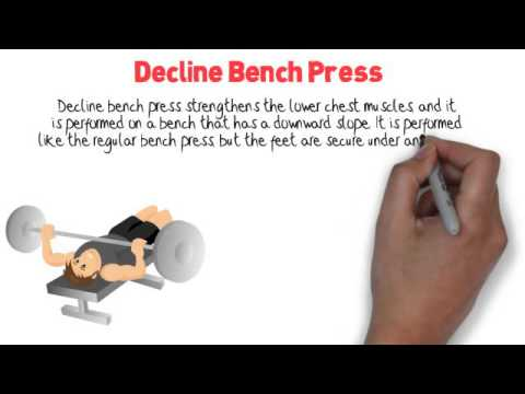 Correct Decline Bench Press Form - Workout Training Videos - YouTube