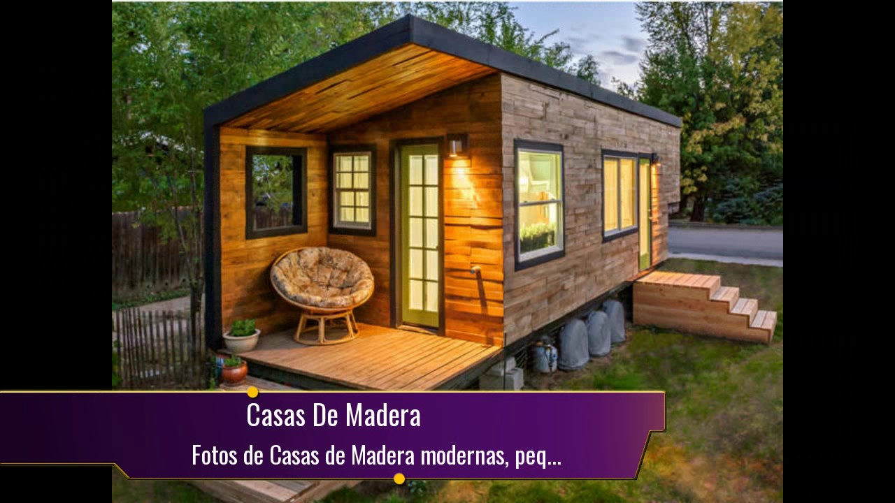 Fotos de casas de madera modernas peque as y bonitas for Casas pequenas modernas