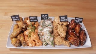 chicken wings flavors recipe