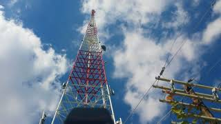 checking emf radiation massive cell tower downtown San Antonio
