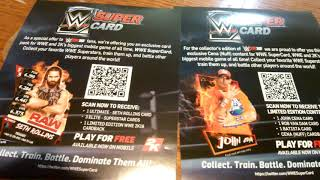This is free to use for wwe mobile. The wwe super card.