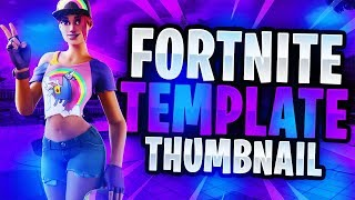 "NEW Fortnite Summer 2019 ""LEAKED"" SKINS Thumbnail Template! - (FREE Fortnite GFX Template)"