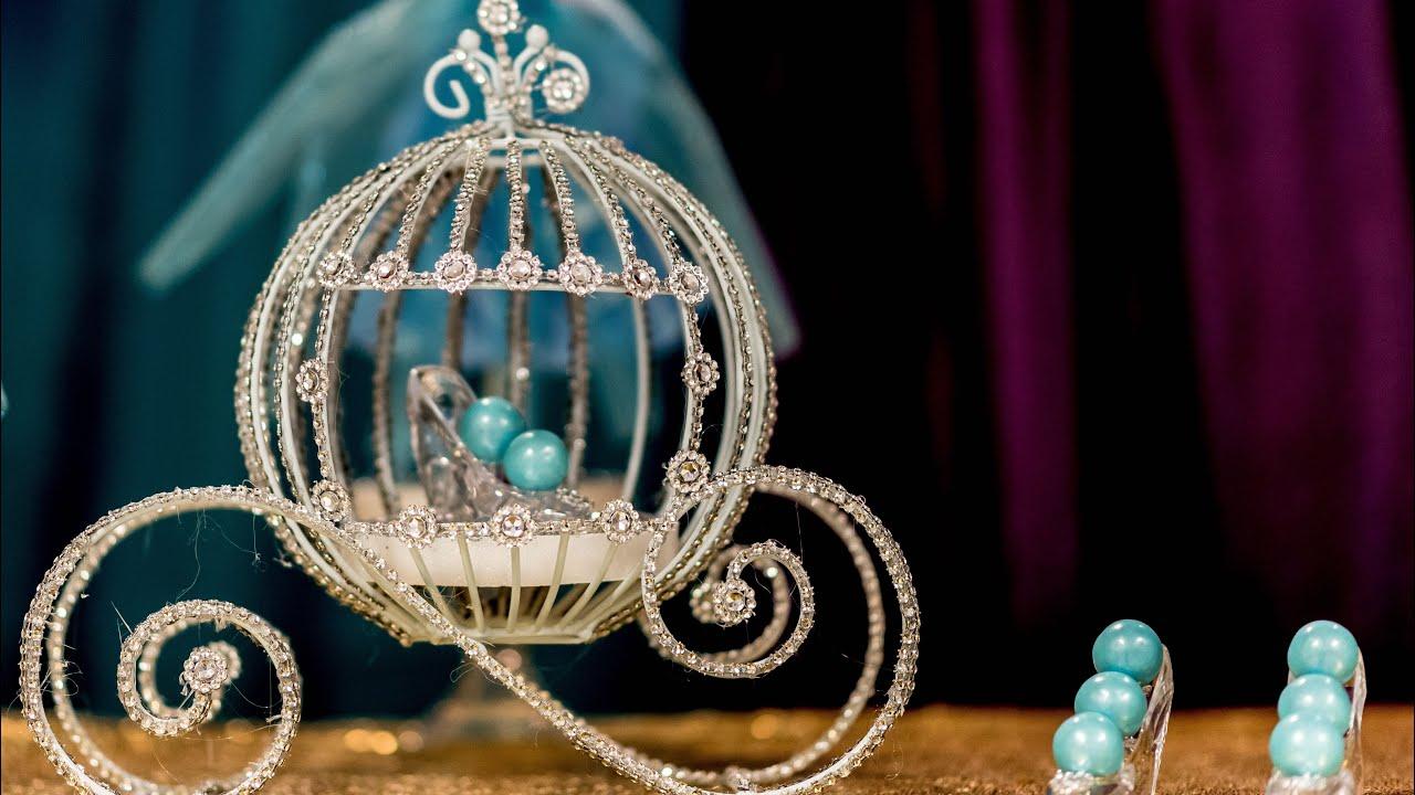 Cinderella Carriage Centerpiece Centerpiece Diy Youtube