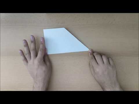 How to make a Basic Paper Airplane #1