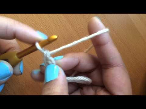 Left-handed Chainless Foundation In Single Crochet (US) Or Double Crochet  (UK)