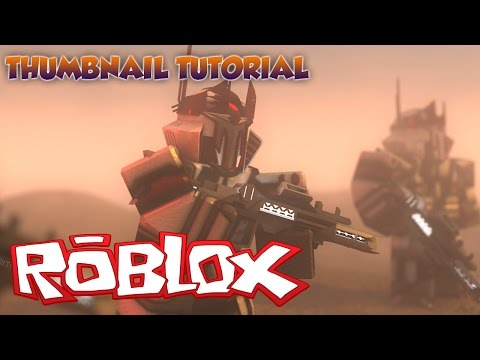 ROBLOX THUMBNAIL TUTORIAL (FILES IN DESCRIPTION)