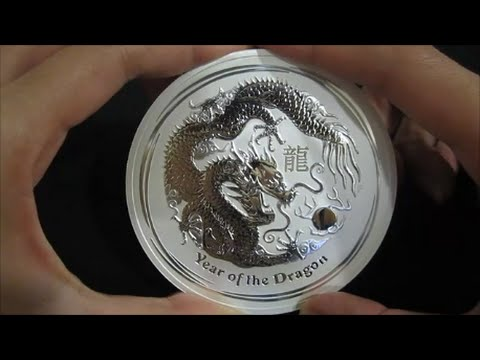 2012 Australia Lunar Year Of The Dragon Silver Coin 10 Oz