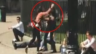 man attacking his girlfriend at a london park   caught on camera