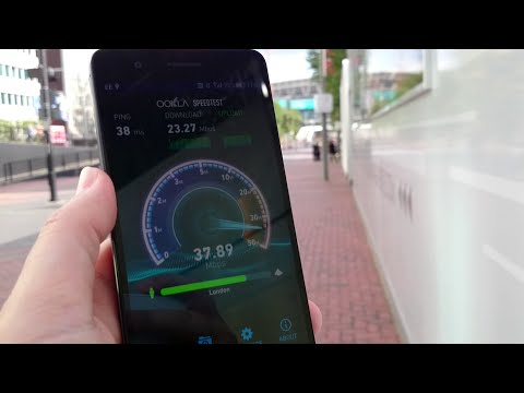 Mobile network speed testing, London, July 30th 2015
