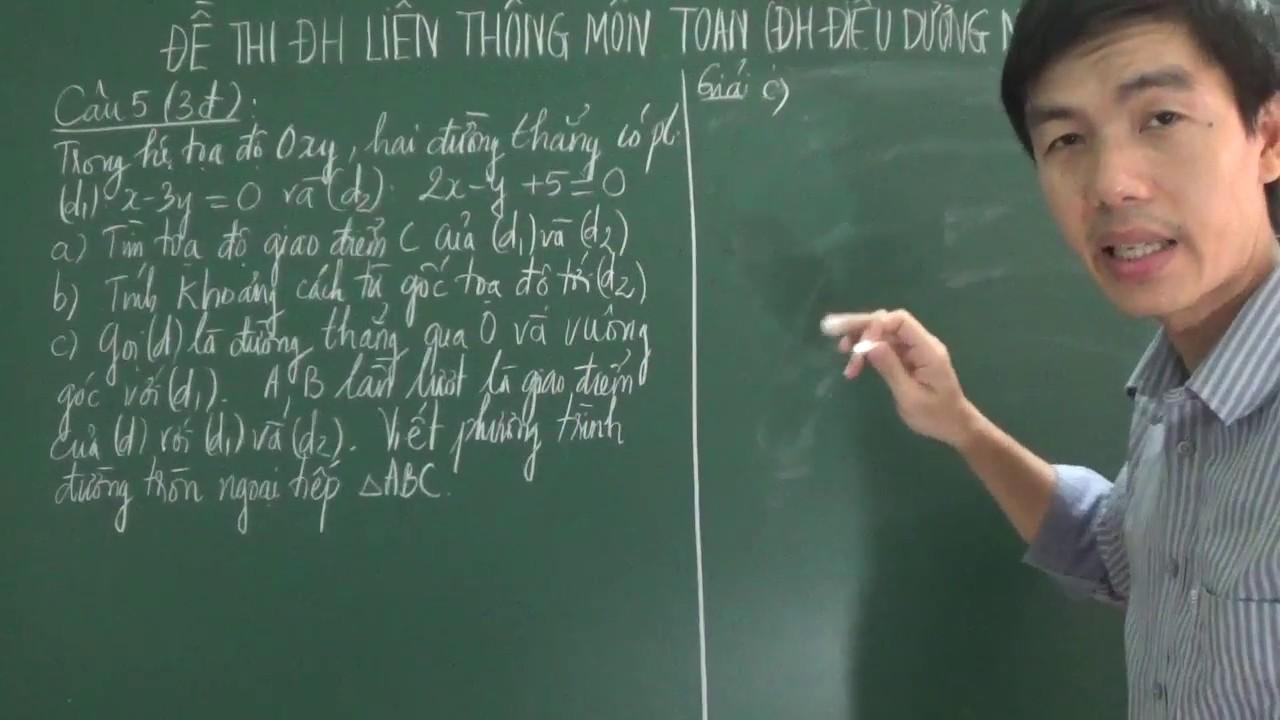 Đề thi đại học liên thông môn Toán, ĐH Điều Dưỡng – Nam Định (năm 2012-phần 3)