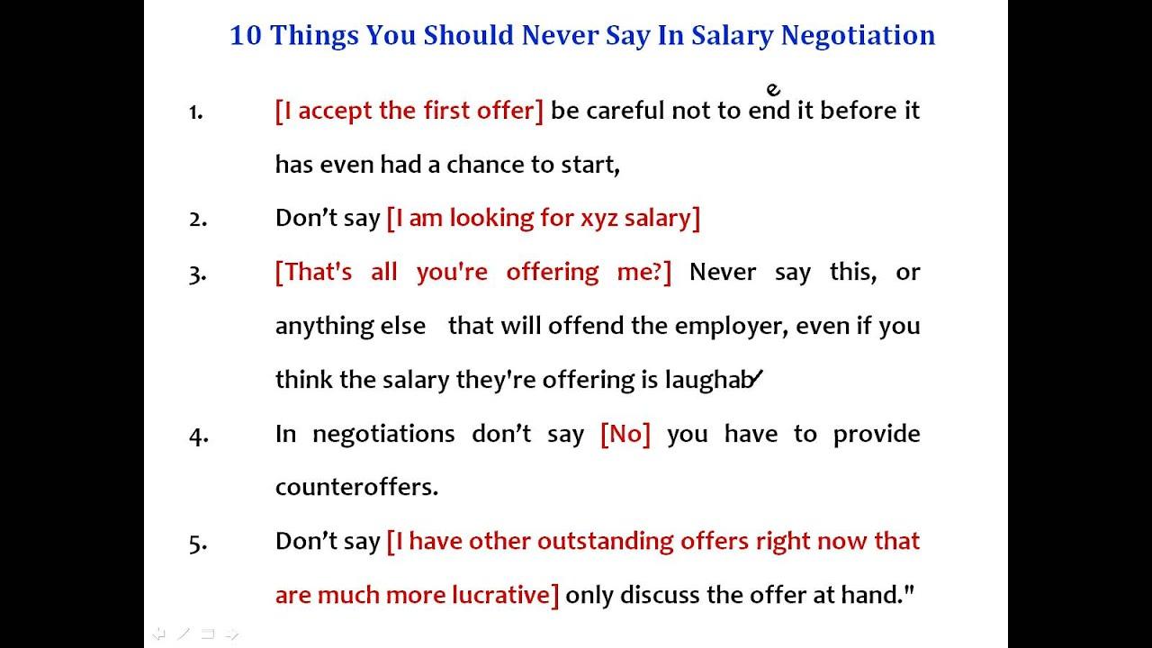 salary offer negotiation