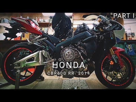 Ремонт Honda CBR600RR 2014. Разборка, снятие крышки сцепления, дефектовка корзины сцепления. Part I