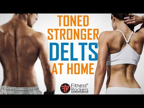 Best Workout to Grow Strong & Toned Shoulder At Home (Men & Women)