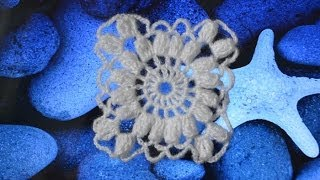 ������� ������� ������� ��� ���� (Crochet square for shawls)