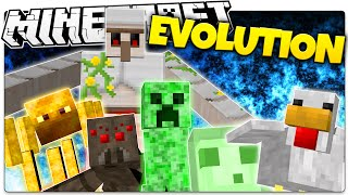 Minecraft | MOB EVOLUTION! | Transform or DIE (Minecraft Mini Game)
