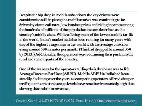 India   Telecoms, Mobile, Broadband and Forecasts