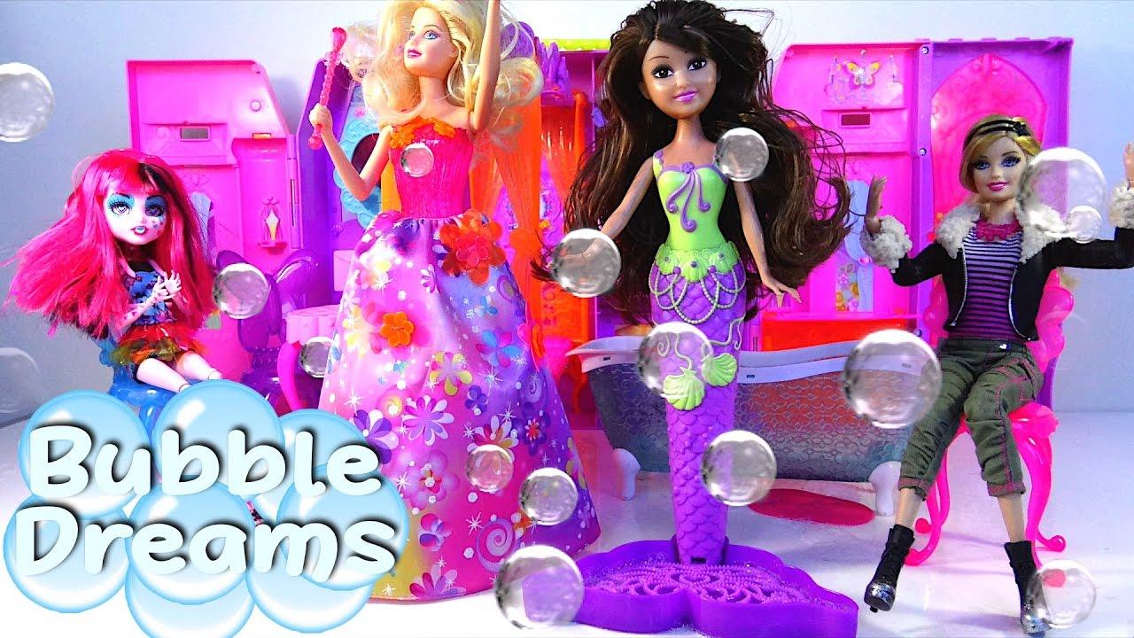 Barbie Fairy Baby Alive Doll Sparkle Girlz Bubble Mermaid Bubble Dreams Kids' Toys