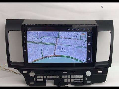 Штатная магнитола для Mitsubishi Lancer X Android с GPS