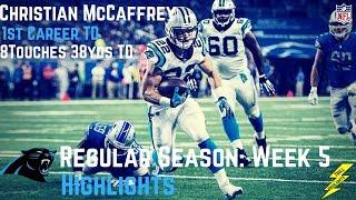 Christian McCaffrey Week 5 Regular Season Highlights First Career TD | 10/08/2017