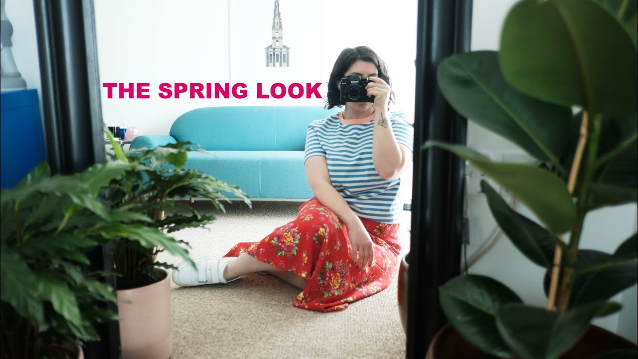 CURRENT GO TO LOOK | SPRING OUTFIT, GLOWY MAKEUP & WAVY SHORT HAIR STYLE 8