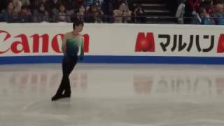 Saturday, April 1st. Warm up for Mens Free featuring Yuzuru Hanyu a...