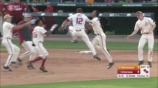 #7 Arkansas vs #18 Tennessee Game 3 2019 (Walk Off) Video