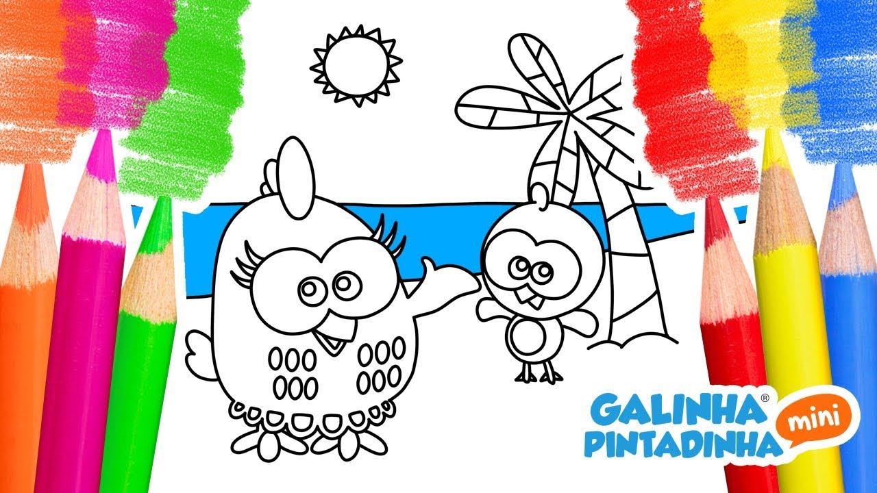 Desenhar E Colorir GALINHA PINTADINHA E PINTINHO