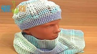 Вязание шапочки и шарфа Урок 4 часть 1 из 3 Prosta czapka na szydełku