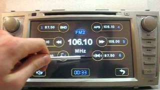 Видео обзор штатного головного устройства TOYOTA CAMRY V-40