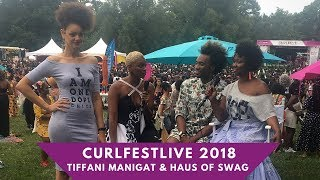 CURLFESTFLive 2018 Tiffani Manigat Styles With Haus of Swag