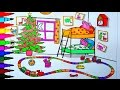 PEPPA PIG Coloring Book Pages Peppa's Bedroom Kids Fun Art Learning Videos Kids Balloons Toys
