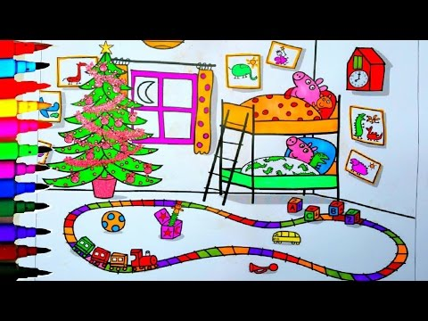 Kids Cartoons Peppa Pig Coloring Book Coloring Pages Fun Art For