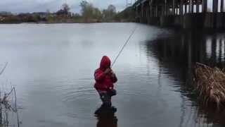 Рыбалка на р.Самара в дождь(окунь, судак)