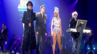 Pet Shop Boys ft. Lady GaGa & Brandon Flowers - 2009 BRIT Awards Perfomance