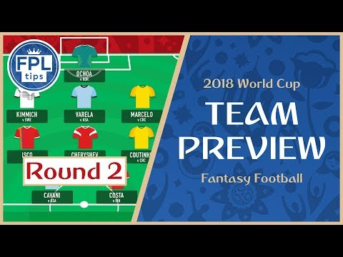 ROUND 2: TEAM SELECTION  Activate the Wildcard?  WORLD CUP 2018 tasy Football P