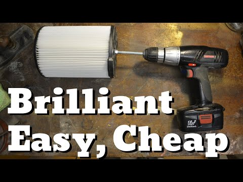 Shop Vac Filter Hack - Make it Last!