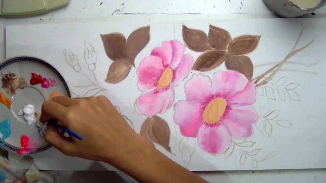 Aprende A Pintar Flores En Acrilico Video Largo Tutorial