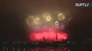 Световое шоу и фейерверк по случаю закрытия АрМИ-2019 — LIVE