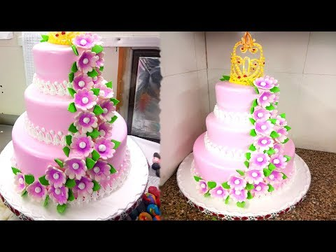 How To Make Rose Cake | Rose Cake Designs | Buttercream Flow