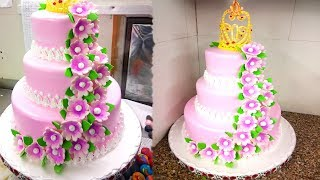 How To Make Rose Cake | Rose Cake Designs | Buttercream Flowers Cake