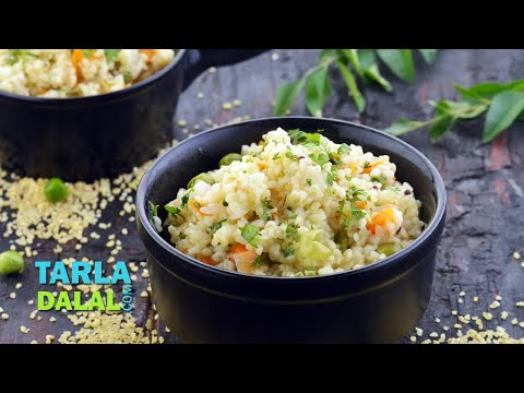 Broken Wheat Upma (Healthy Breakfast) by Tarla Dalal